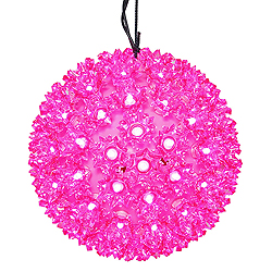 7.5 Inch Lighted Starlight Sphere 100 LED Pink Lights