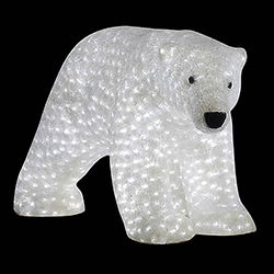 43 Inch Female Polar Bear Decoration 1540 LED Warm White Lights