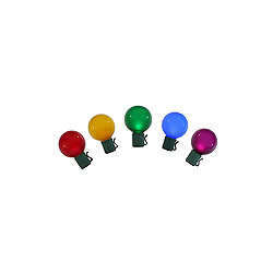 10 LED G30 Multi Color Christmas Light Set Green Wire