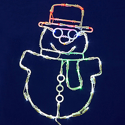 48 Inch LED C7 Snowman Wire Frame Motif