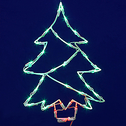 48 Inch LED C7 Christmas Tree Wire Frame Motif