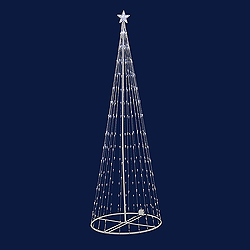 9 Foot Light Show Tree - 344 LED Warm White Lights