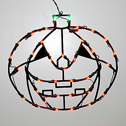 16 Inch Pumpkin Lighted Window Decoration - 35 LED Lights