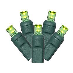 120 LED 5MM sLime Green Net Lights - Green Wire