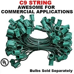 1000 Foot C9 Cordset Green Wire 15 Inch Spacing