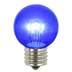5 LED G50 Globe Blue Transparent Retrofit E26 Socket Replacement Bulbs