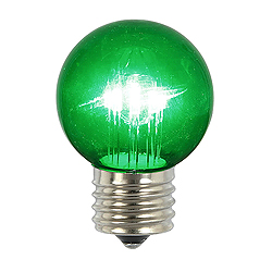 5 LED G50 Globe Green Transparent Retrofit E26 Socket Replacement Bulbs