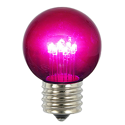 5 LED G50 Globe Purple Transparent Retrofit E26 Socket Replacement Bulbs