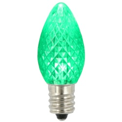 25 LED C7 Green Faceted Retrofit Night Light Replacement Bulbs