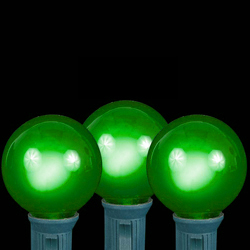 25 LED G30 Globe Green Ceramic Retrofit Night Light C7 Socket Replacement Bulbs