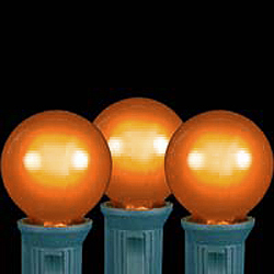 25 LED G30 Globe Orange Ceramic Retrofit Night Light C7 Socket Replacement Bulbs