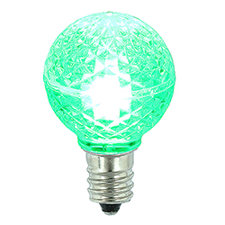 25 LED G30 Globe Green Faceted Retrofit Night Light C7 Socket Replacement Bulbs