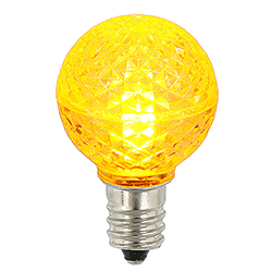 25 LED G30 Globe Yellow Faceted Retrofit Night Light C7 Socket Replacement Bulbs