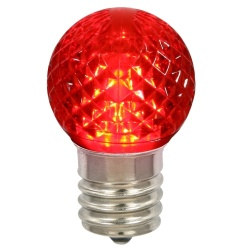 G40 LED Red Retrofit Night Light Bulb Box of 25