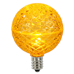 10 LED G50 Globe Yellow Faceted Retrofit C7 Socket Replacement Bulbs