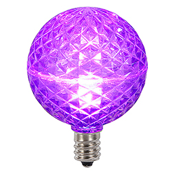 10 LED G50 Globe Purple Faceted Retrofit C9 Socket Replacement Bulbs