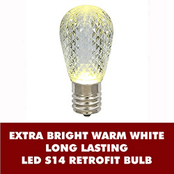 10 LED S14 Patio Faceted Warm White Retrofit Replacement Bulbs