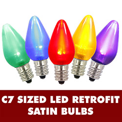 25 LED C7 Multi Color Ceramic Twinkle Night Light Retrofit Replacement Bulbs
