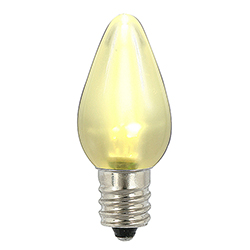 25 LED C7 Warm White Ceramic Retrofit Night Light Replacement Bulbs