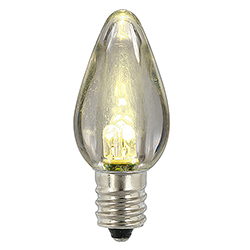 25 LED C7 Warm White Transparent Retrofit Night Light Christmas Replacement Bulbs