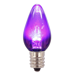 25 LED C7 Purple Transparent Retrofit Night Light Halloween Replacement Bulbs