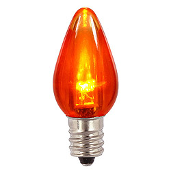 25 LED C7 Transparent Orange Retrofit Replacement Bulbs