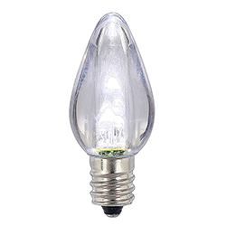 25 LED C7 Pure White Transparent Retrofit Night Light Christmas Replacement Bulbs