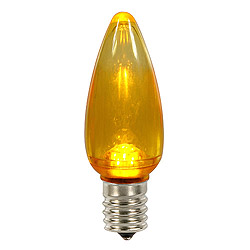 25 LED C9 Yellow Transparent Twinkle Retrofit Replacement Bulbs