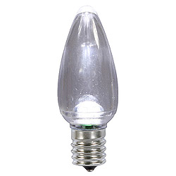 25 LED C9 Pure White Transparent Twinkle Retrofit Replacement Bulbs