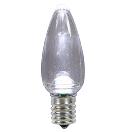 25 LED C9 Cool White Transparent Retrofit Replacement Bulbs