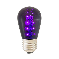 25 LED S14 Patio Transparent Purple Plastic Retrofit Replacement Bulbs
