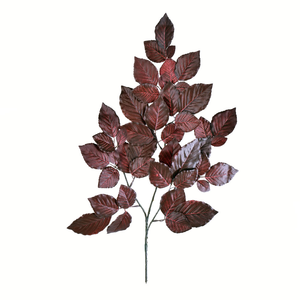 21 Inch Purple Leaf Decorative Artificial Christmas Floral Spray