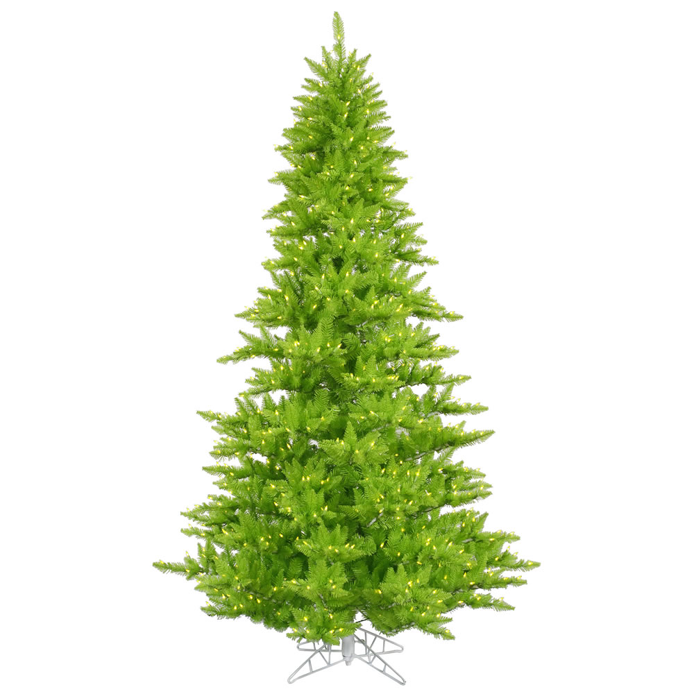 5.5 Foot Lime Fir Artificial Halloween Tree 400 DuraLit LED M5 Italian Lime Green Mini Lights