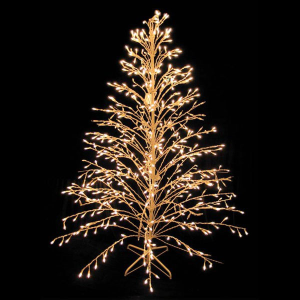 6 Foot Cascade White Artificial Christmas Tree - 400 Clear Lights