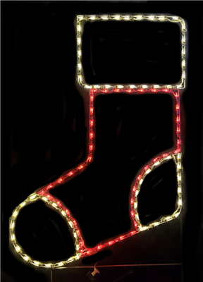 Christmas Stocking Lighted Outdoor Decoration - LED M5 Mini Lights