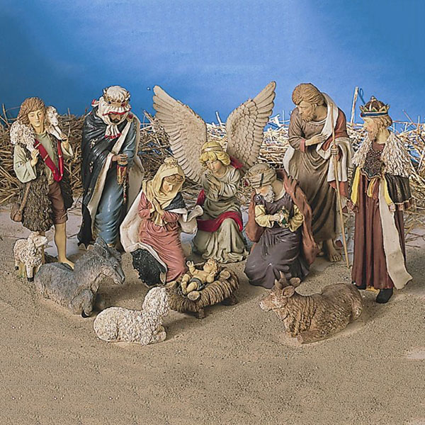 Holy Family Nativity Figure Set of 11 Figures - Large
