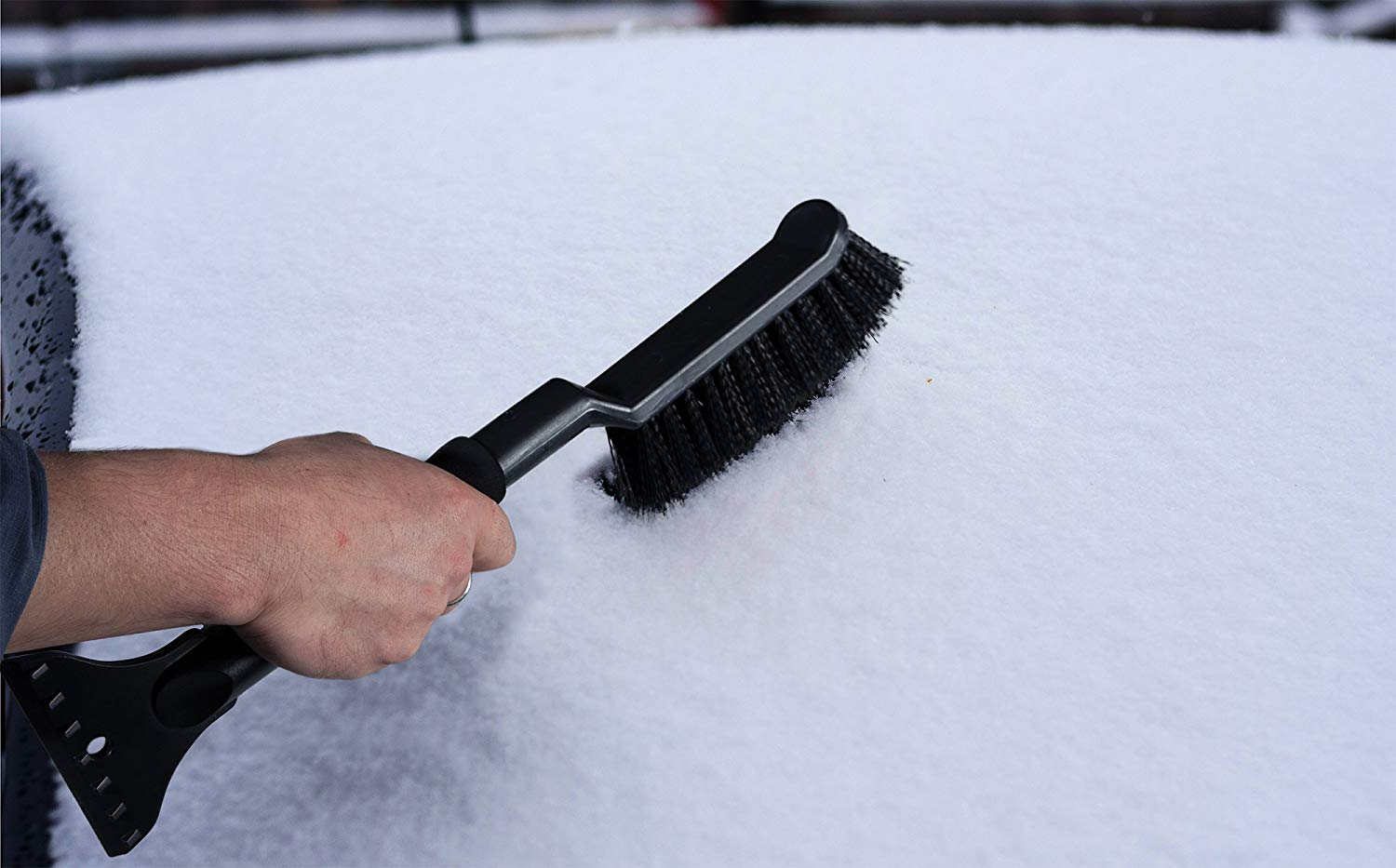 Ice Scraper with Snow Brush 2-in-1 Windshield Removal Tool with Foam Grip - 2 Scraper & Brush Bulk Pack
