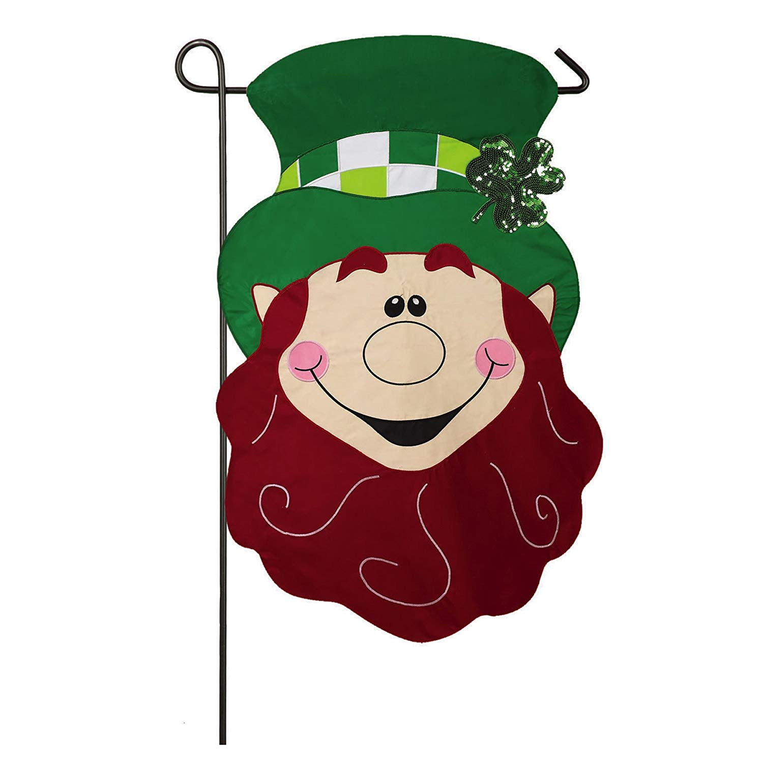 28 Inch St. Patricks Day US Garden Flag - St. Patty Leprechaun