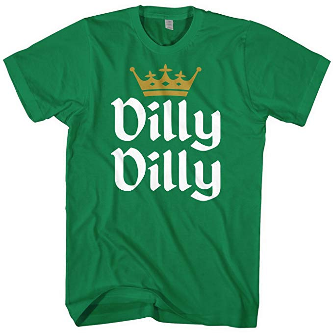 Mens Dilly Dilly St. Patricks Day Gold Crown Shirt