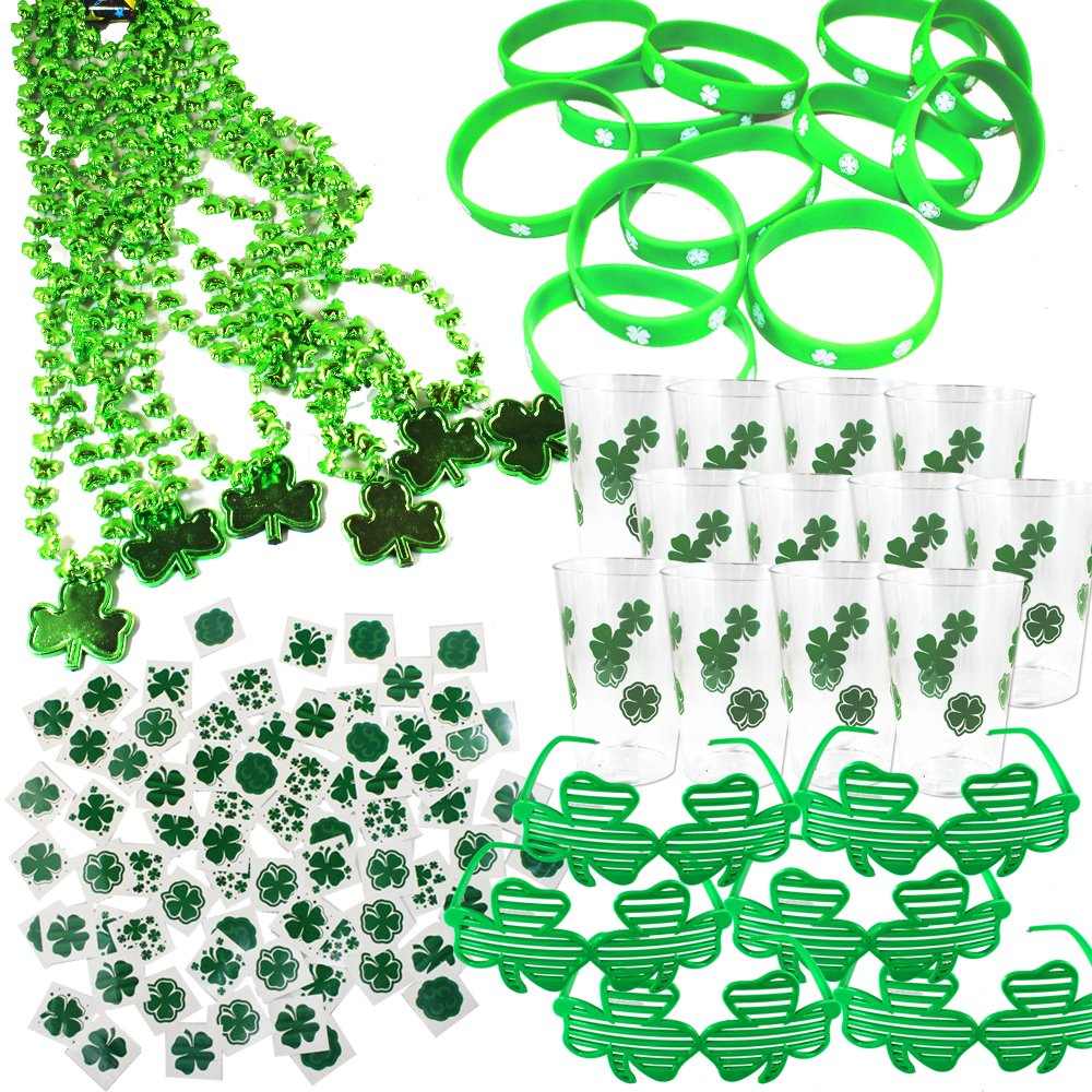 108 Pieces St. Patricks Day Party Favor Set