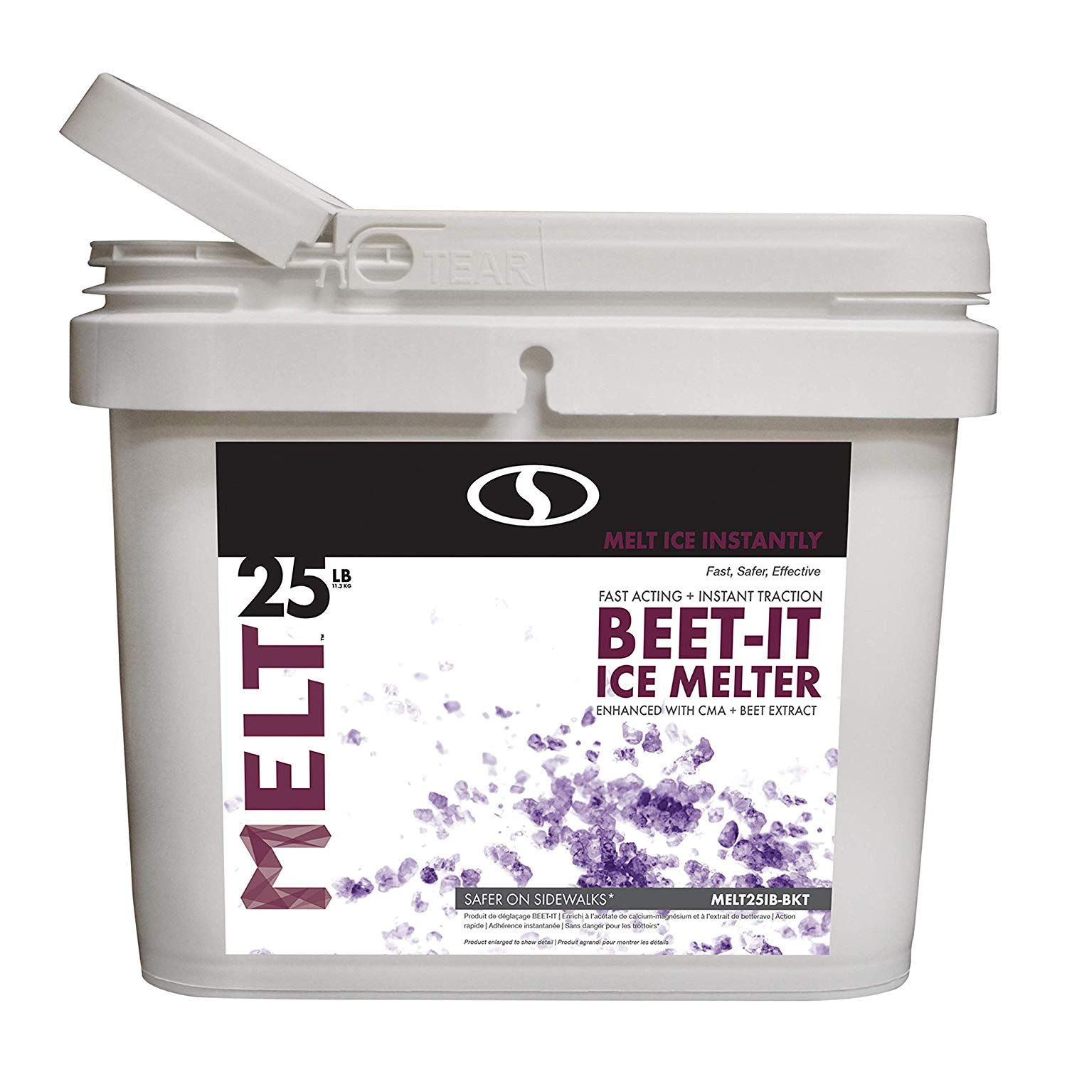 25 Pound Melt-2-Go Natural Beet Juice Extract + CMA Enriched Ice Melter