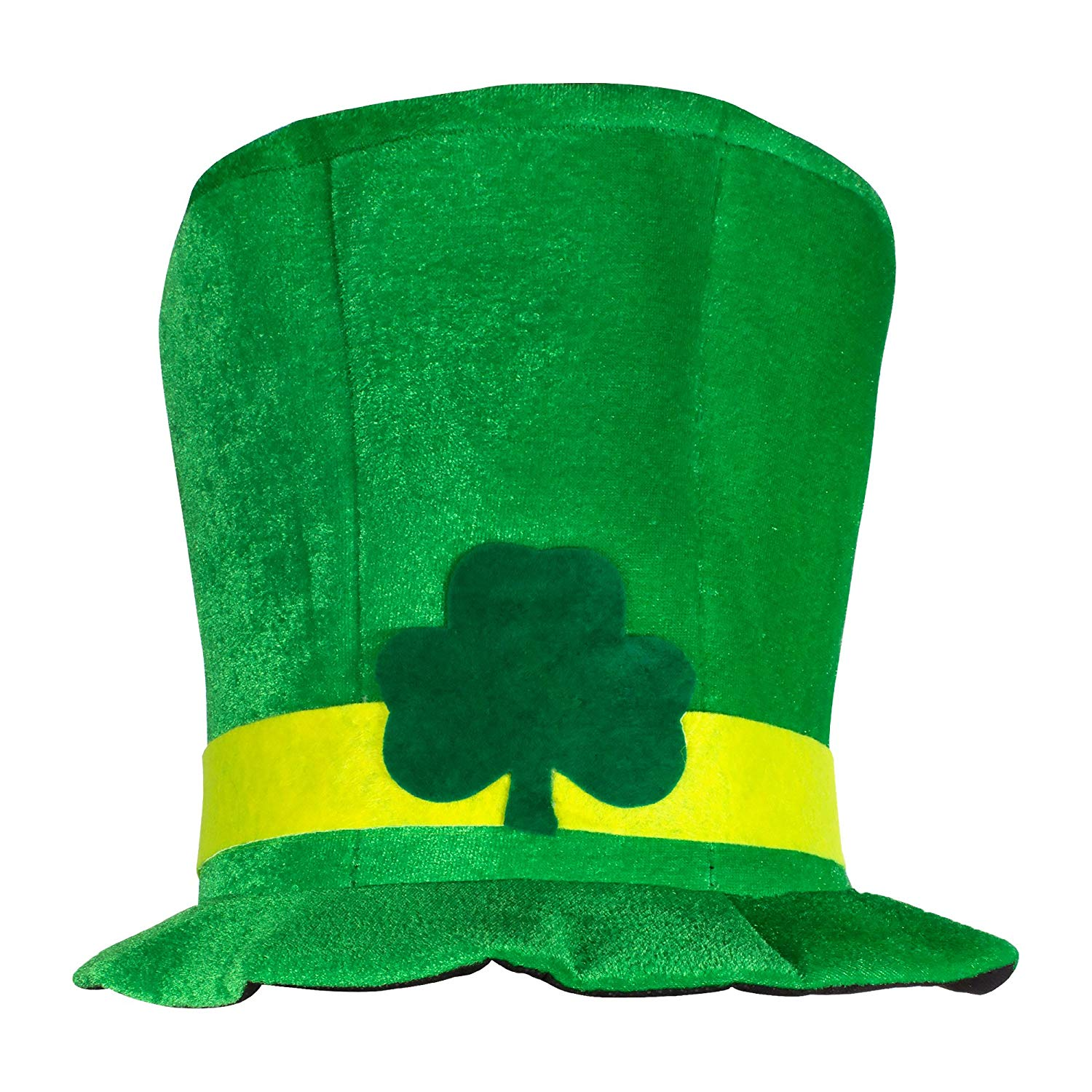 Unisex St. Patricks Day Shamrock Green Velvet Top Hat - 2 Hat Bulk Pack