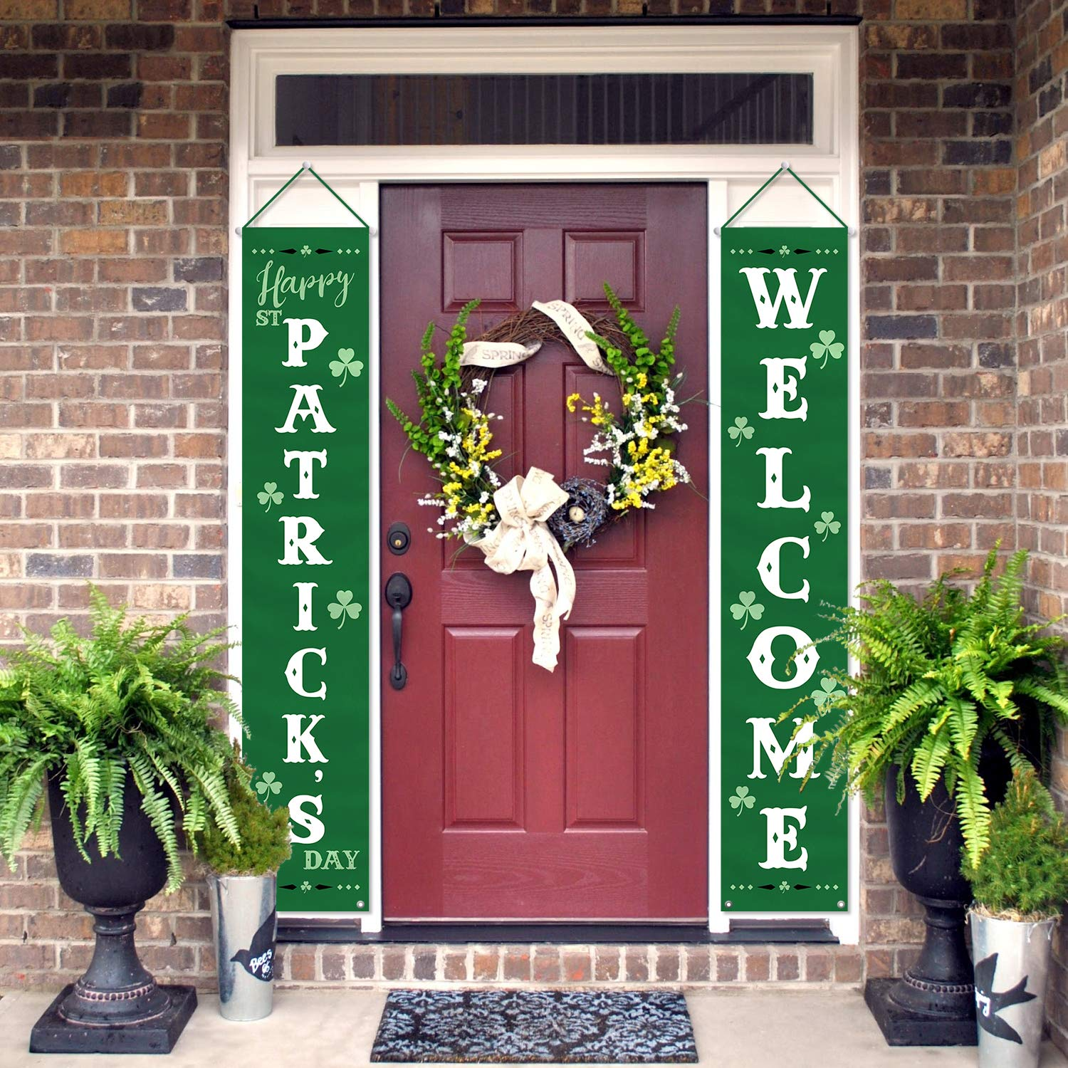 Saint Patricks Day Outdoor Irish Shamrock Décor Banners