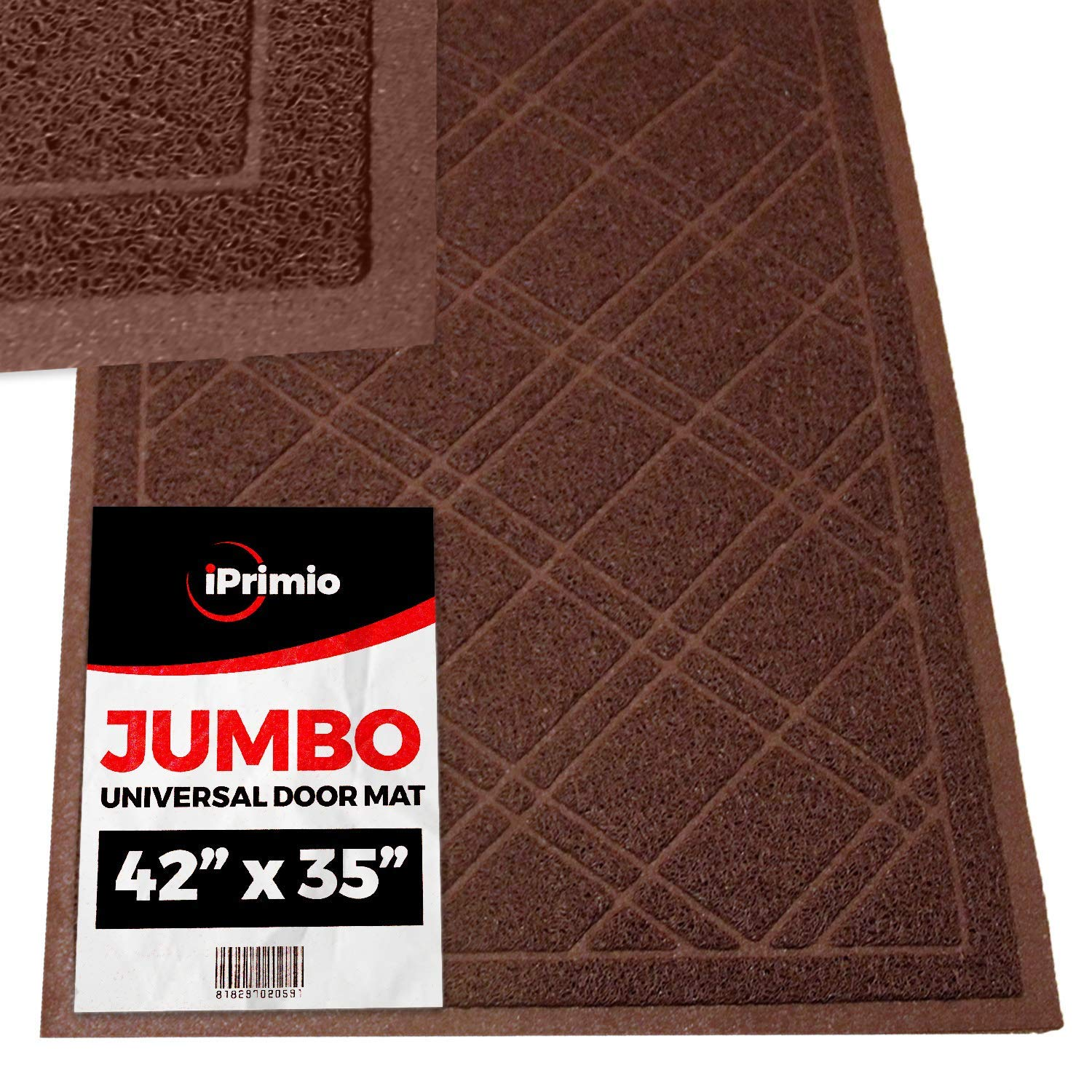 42 Inch Universal Brown Weatherproof Door Mat - 2 Mat Bulk Pack