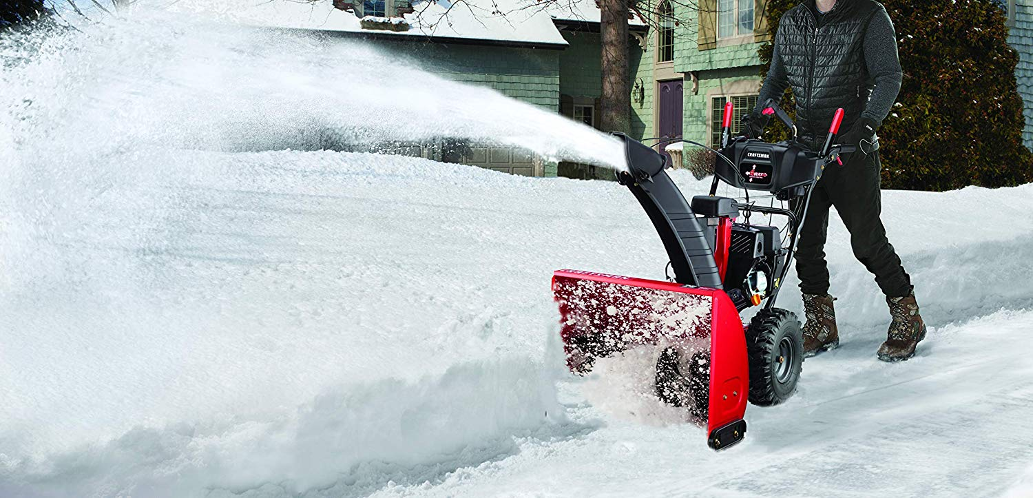 26 Inch 208cc Electric Start Two Stage Gas Powered Snow Blower