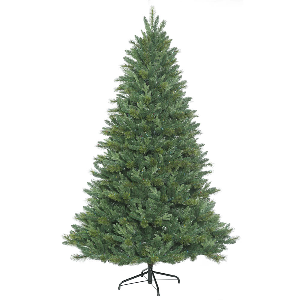 7.5 Foot Dixon Mixed Pine Artificial Christmas Tree Instant Shape Unlit