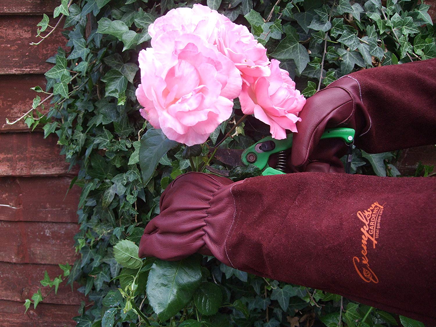 Rose Pruning Gauntlet Unisex Goatskin Leather Gardening Gloves