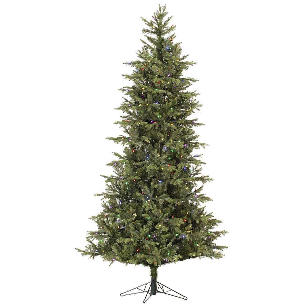 10 Foot Slim Elk Frasier Fir Artificial Christmas Tree 900 LED M5 Italian Multi Color Mini Lights