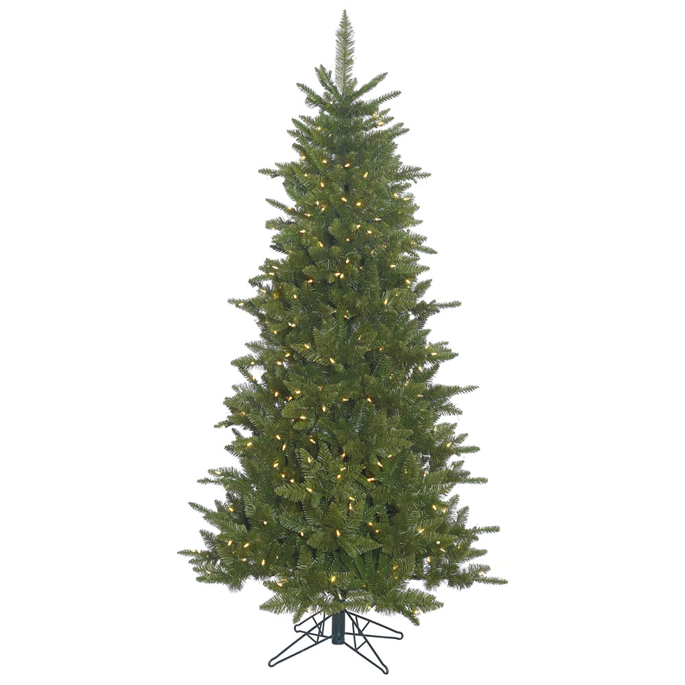 7.5 Foot Slim Durango Artificial Christmas Tree with 700 warm white Italian LED lights.