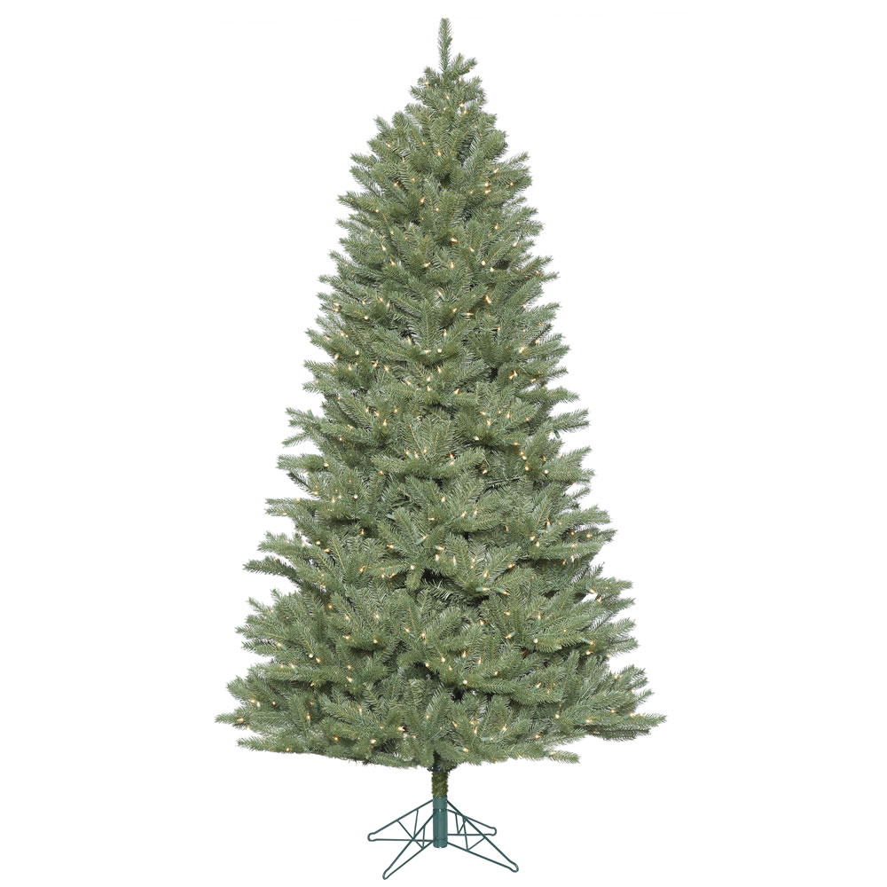 9 Foot Slim Colorado Spruce Artificial Christmas Tree - 1200 Duralit Incandescent Clear Mini Lights